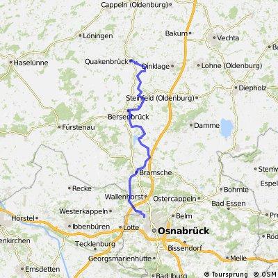 hasetalradweg karte NOZ Hasetalradweg | Bikemap   Deine Radrouten hasetalradweg karte
