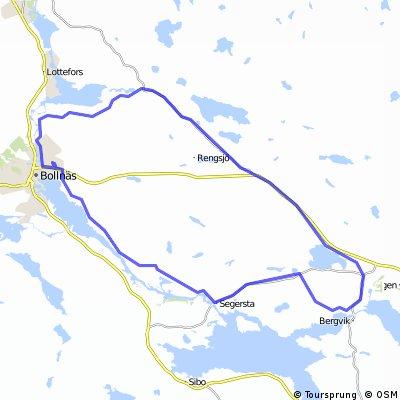 Rättarevägen-Växbo-Glössbo-Mohed-Bergvik-Segersta-Hem