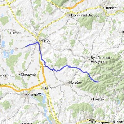 Kostelec u Holešova – Brusné - Rusava