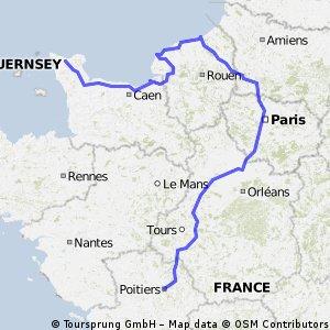 Potiers -> Cherbourg