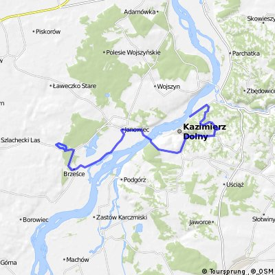 Szlak rowerowy (czarny) Kazimierz- Janowice