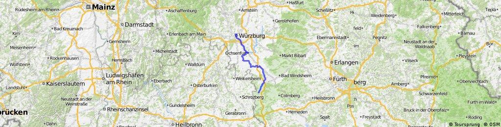 Würzburg nach Rothenburg