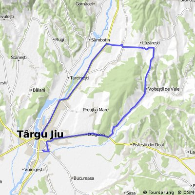 Tg-Jiu - Balanesti - Voitesti din vale - Lazaresti - Tetila - Tg-Jiu