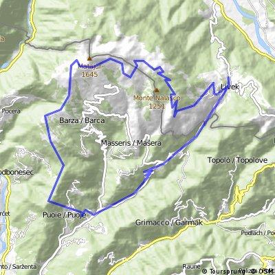 Matadown con salita pedalata dal versante Sloveno