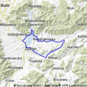 Żywiec Pewel-Ślemień-Jezioro-Żywiec