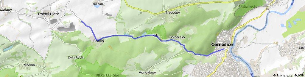KPO Tréninková tour: Černošice - Roblín
