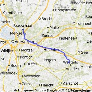 Site2Site Run 8: Tongerlo > Brasschaat
