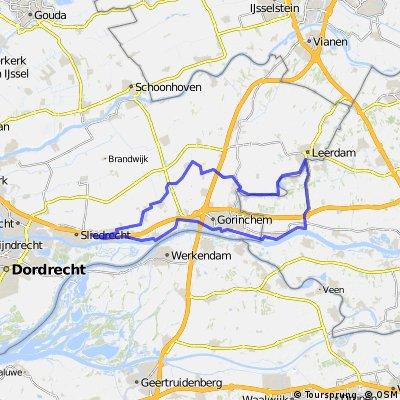 Merwede, Waal, Linge en Giessenroute 62 km