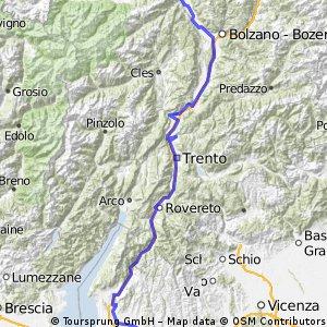 Via Claudia Augusta: Meran -> Verona