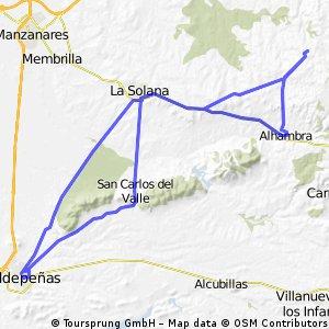 VALDEPEÑAS-LA SOLANA-EL LOBILLO-ALHAMBRA-LA SOLANA-SAN CARLOS-VALDEPEÑAS