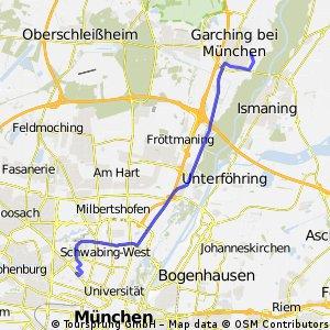 Biergarten Mühlenpark - Rückweg