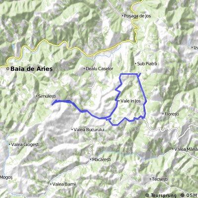 Valea Poienii- Cuibul Corbului-Vale in Jos-Manastirea Ponor-Valea Poienii