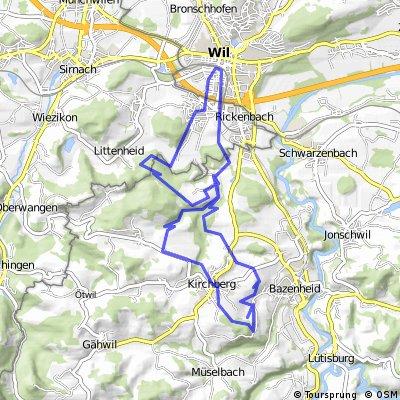 Bike-Tour: Wil - Kirchberg - Giessenfällen - Wil