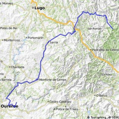 20ª Eta Santo Estevo de Ribas de Sil , Puerto de Ancares 185,7 km