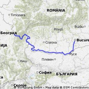 Dunarea(moldova noua - giurgiu)