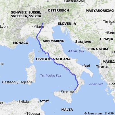 Gardasee nach Sizilien