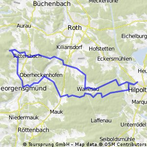 MTB Runde HIP - Mäbenberg - GeorgTown - HIP