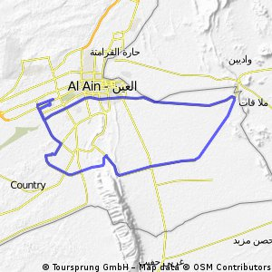 Cycling Routes And Bike Maps In And Around Al Ain Bikemap Your - Al ain map