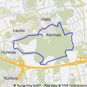 Cycling routes and bike maps in and around Kaarina Bikemap Your