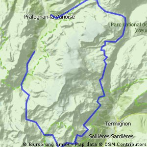 Cycling routes and bike maps in and around Courchevel 1850 Bikemap