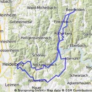 Etappe 3 (Heidelberg Königsstuhl) - kurz