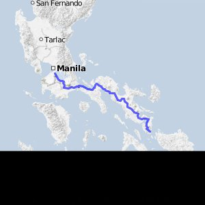 Manila to Matnog (570 kms)