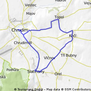 Cyklovýlet z Chrudimi do Slatiňan
