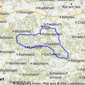 2-Tagestour: Gaildorf - Kocher - Bühler - Fischbachtal  - Murr