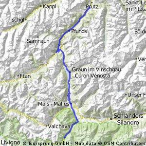 Alpencross Roadbike - Stage 2 - Ried Oberinntal>>Trafoi