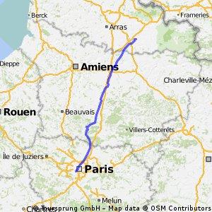 Paris - Amsterdam (Etape 1 : Paris - Cambrai)