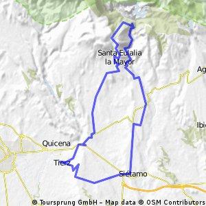 Vuelta por la sierra con subida por Santa Eulalia y bajada por Vadiello