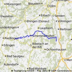 von Uttenweiler nach Kirchberg/Iller