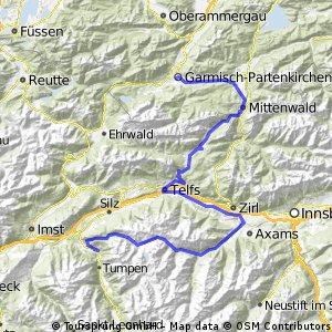 Alpencross Roadbike - Stage 1 - ALTERNATIVE ROUTE