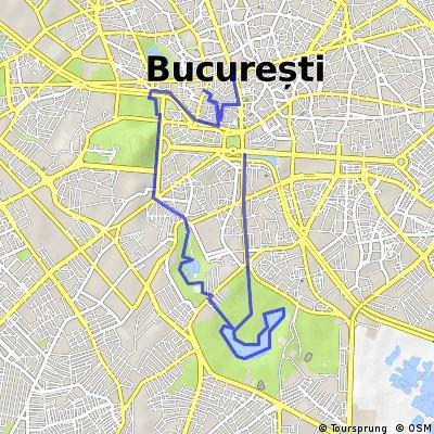 Cu bicicleta prin Bucuresti - traseul 2: Centrul Istoric - Parcul Carol I - Tineretului - Unirii