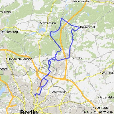 Pankow-Liepnitzsee Biesenthal-Bernau-Pankow
