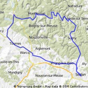Sedan - round trip 98km