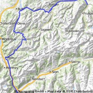 VCS  2-Tagestour 2014  2.Tag  Col des Mosses - Jaunpass