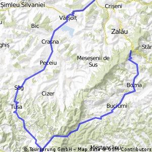~ 110 Km Hereclean - Varsolt - Crasna - Banisor - Sag - Tusa - Calea Lata - Bogdana - Buciumi - Bodia - Agrij - Treznea