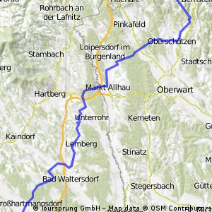 Von Ilz nach Kirchschlag über Burgenland