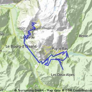 Alpe dHuez Col du Sarenne La Garde Alpe dHuez Bikemap