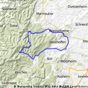 Les pandours au départ de Marlenheim