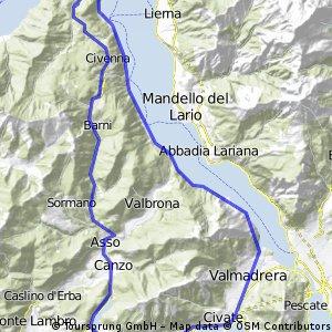 Giro Madonna del Ghisallo e ramo Lecco