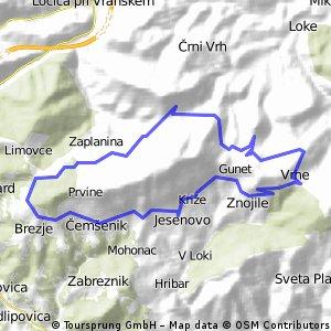 Okrog Čemšeniške planine (Vrhe) - 20 km