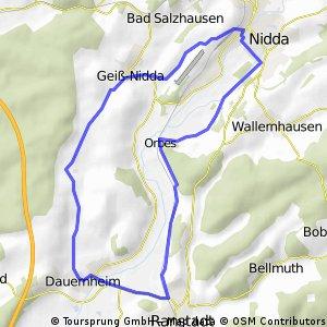 18km Dauernheim-Nidda-Rundweg