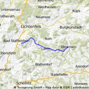 Weismain->Staffelberg (Straße)