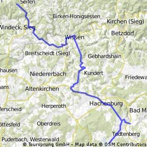 Durch den Westerwald zum Badesee