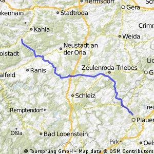 Plauen - Saaleradweg