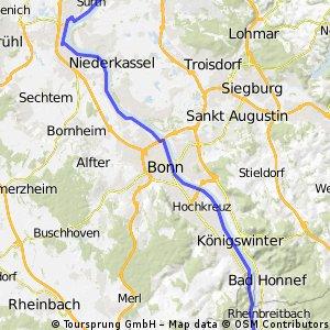 Weltradeln2 Köln - Ahrmündung