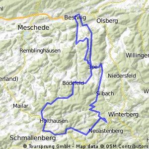Bestwig - Bad Fredeburg - Kahler Asten - Bestwig
