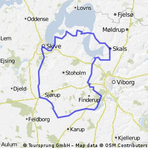 Cycling routes and bike maps in and around Skive Bikemap Your